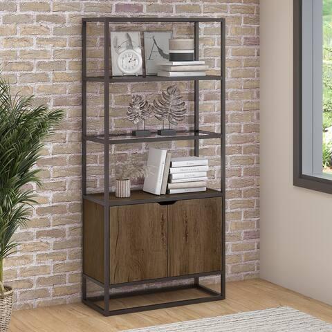 Bush Furniture Anthropology 5 Shelf Bookcase with Doors