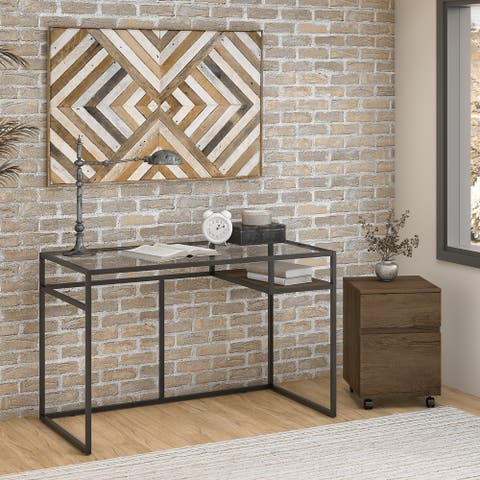 Bush Furniture Anthropology 48W Writing Desk with File Cabinet