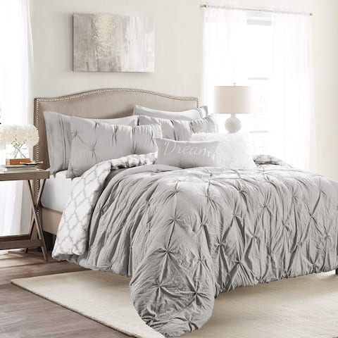 Lush Decor Ravello Pintuck Caroline Geo Comforter Set