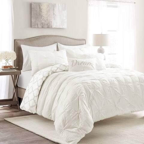 Lush Decor Ravello Pintuck Caroline Geo Comforter Set