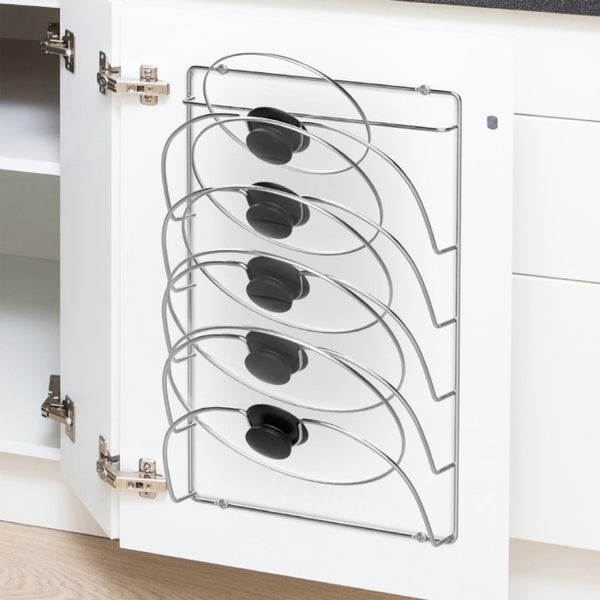 Lid Organizer Rack-5 Slot Wall Mount Organizer by Lavish Home. Opens flyout.