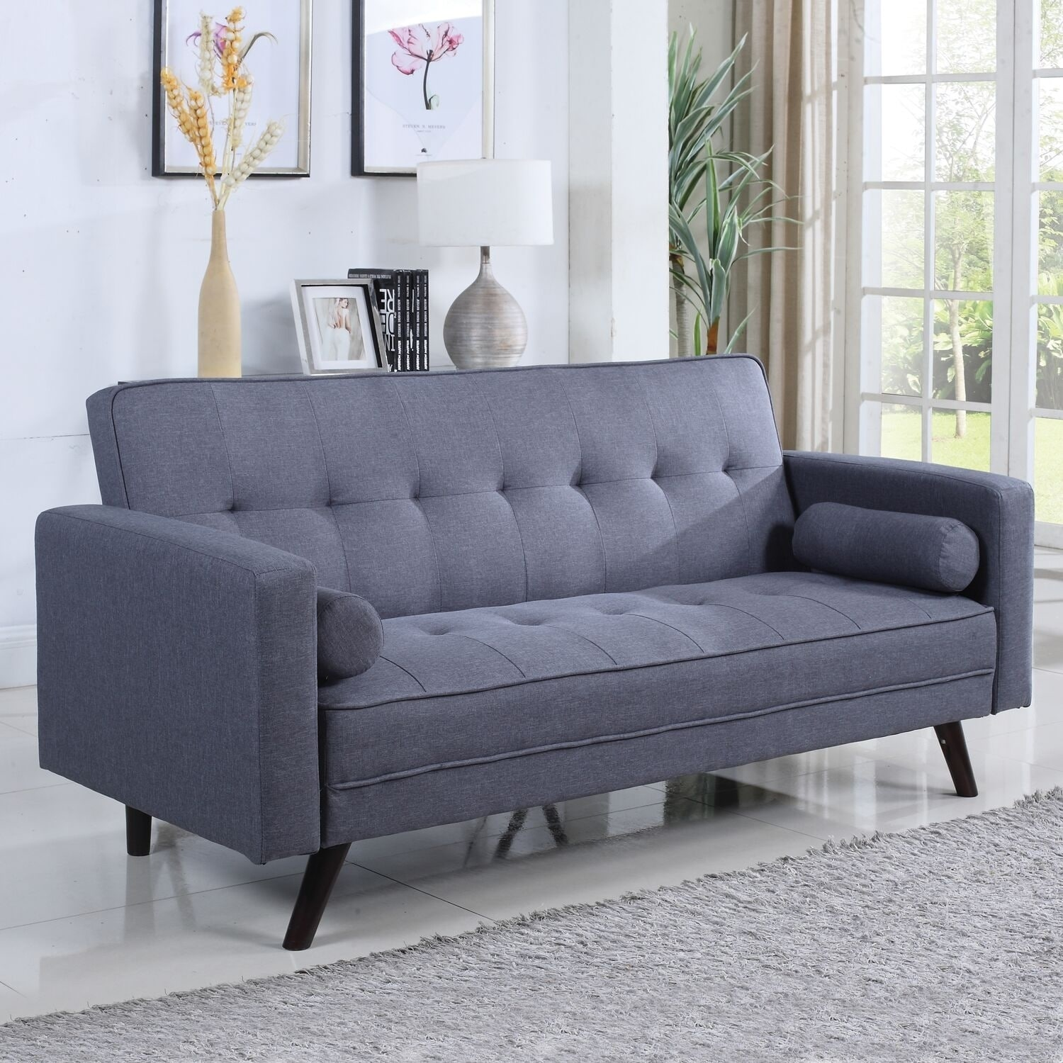 Swell Santa Clara Grey Tufted Sofabed Gamerscity Chair Design For Home Gamerscityorg