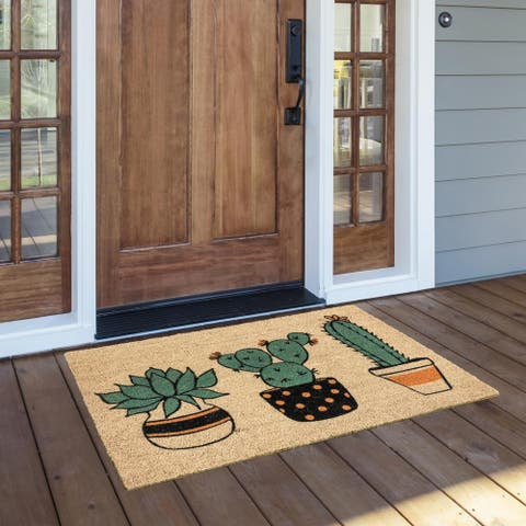 The Curated Nomad Cactilicious Coir Doormat - 24 x 36
