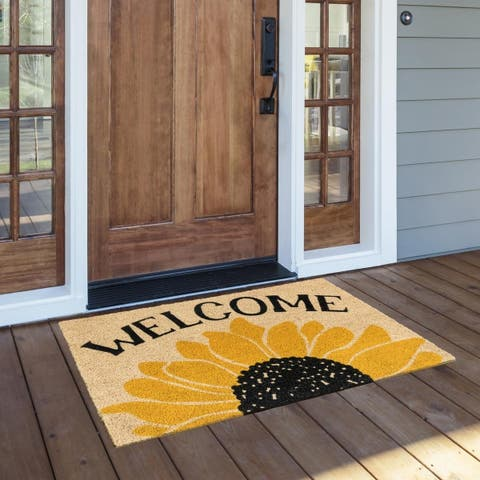 Sunday Morning 24x36 Coir Doormat by Kosas Home