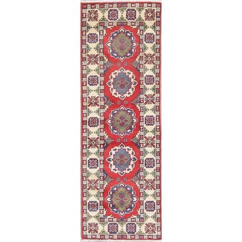 "Kazak Oriental Traditional Hand Knotted Wool Pakistani Rug - 5'11"" x 2'0"" Runner"