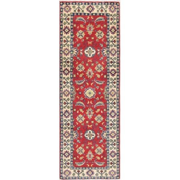 "Kazak Oriental Traditional Hand Knotted Wool Pakistani Rug - 5'9"" x 2'2"" Runner"
