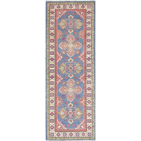 "Traditional Kazak Oriental Hand Knotted Wool Pakistani Rug - 5'11"" x 2'2"" Runner"