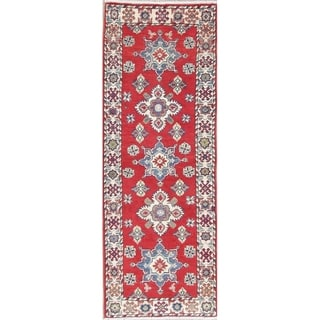 "Kazak Oriental Traditional Hand Knotted Wool Pakistani Rug - 5'11"" x 2'2"" Runner"