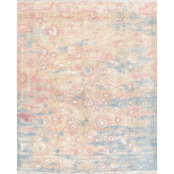 "Tabriz Abstract Oriental Hand Knotted Wool Persian Area Rug - 11'10"" x 9'8"""