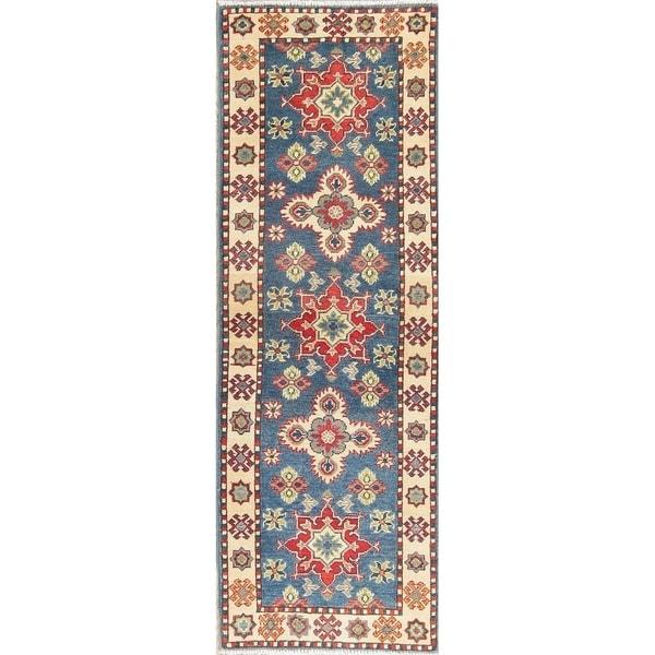 "Kazak Oriental Hand Knotted Wool Pakistani Traditional Rug - 5'11"" x 2'0"" Runner"