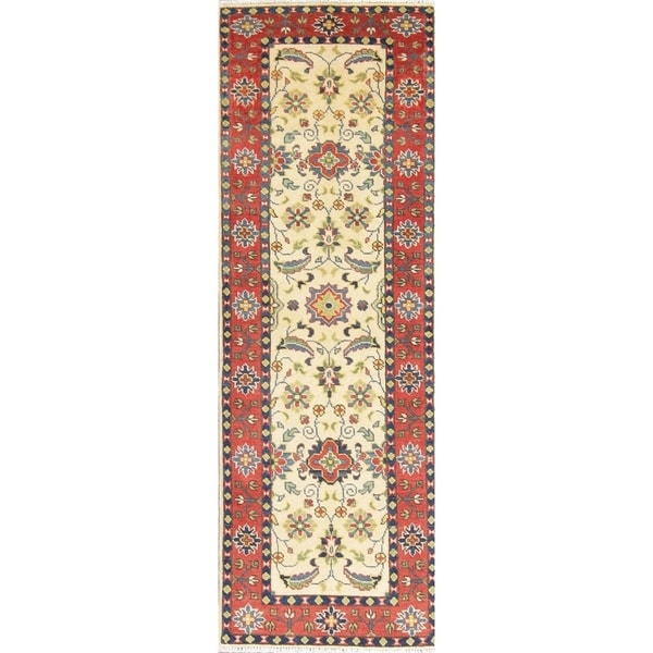 "Traditional Kazak Oriental Hand Knotted Wool Pakistani Rug - 5'11"" x 2'0"" Runner"
