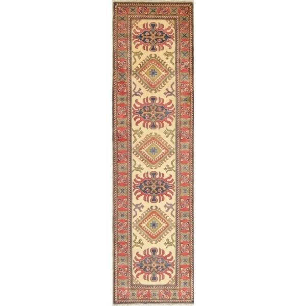 Kazak Oriental Hand Knotted Wool Stani Traditional Rug 9 8 X 2 10 Runner