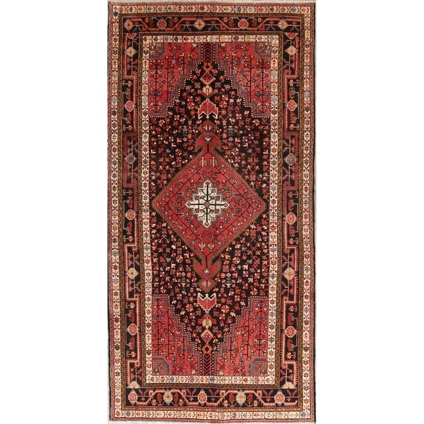 "Nahavand Medallion Tribal Hand Knotted Wool Persian Area Rug - 11'1"" x 5'5"""