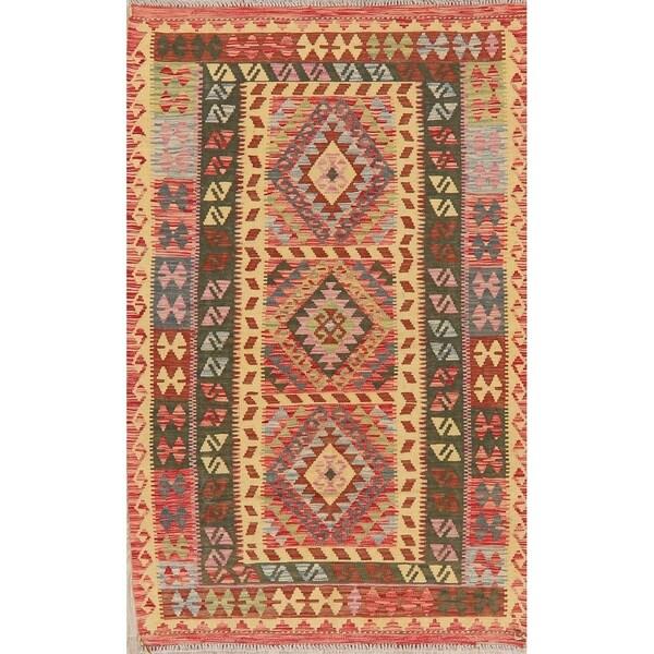 """Kilim Oriental Handmade Wool Turkish Area Rug - 6'7"""" x 4'3"""""""