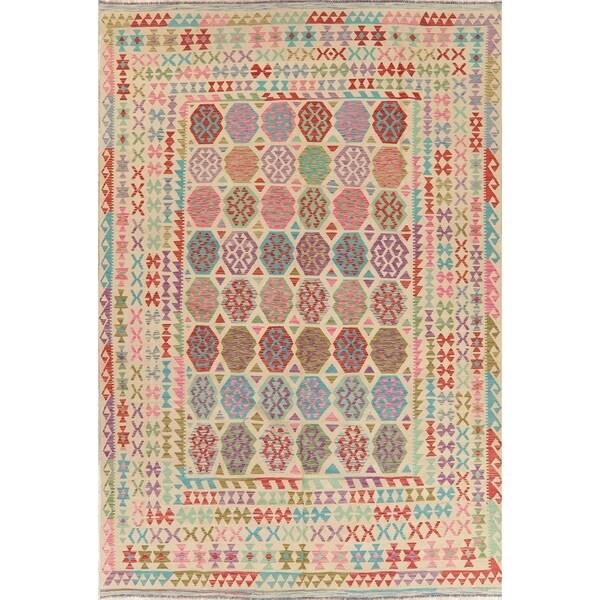 """Kilim Oriental Handmade Wool Turkish Area Rug - 11'11"""" x 8'0"""""""