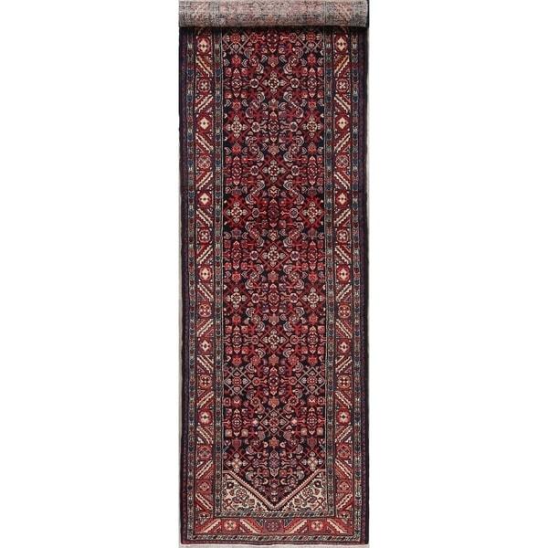"""Vintage Bakhtiari Oriental Hand Knotted Wool Persian Rug - 12'11"""" x 3'7"""" Runner"""