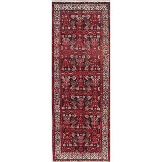 """Vintage Hamedan Oriental Hand Knotted Wool Persian Rug - 9'4"""" x 3'6"""" Runner"""