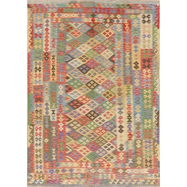 """Kilim Oriental Handmade Wool Turkish Area Rug - 9'5"""" x 6'8"""""""