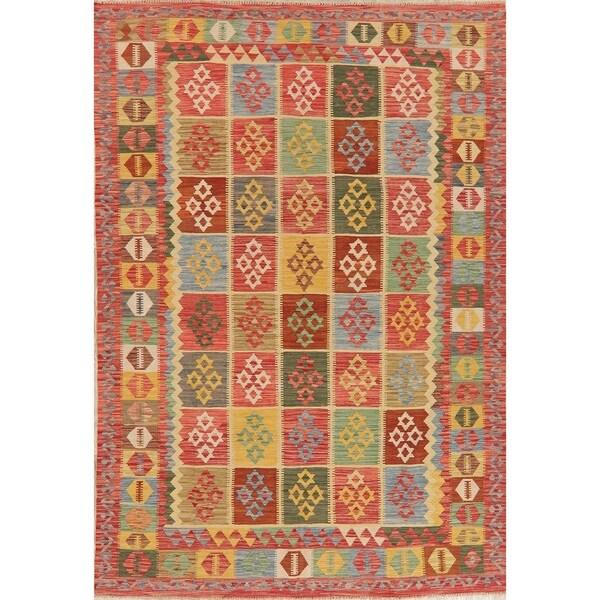 """Kilim Oriental Handmade Wool Turkish Area Rug - 9'6"""" x 6'6"""""""
