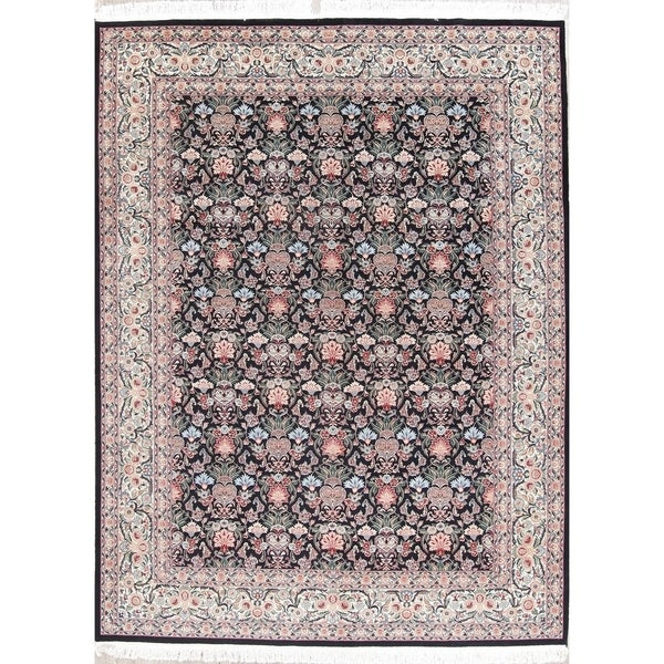 "Aubusson Oriental Hand Knotted Wool Pakistani Area Rug - 12'2"" x 9'2"""