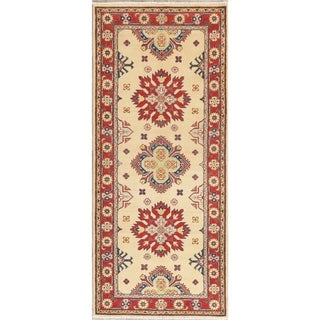 """Traditional Kazak Oriental Hand Knotted Wool Pakistani Casual Rug - 6'7"""" x 2'9"""" Runner"""
