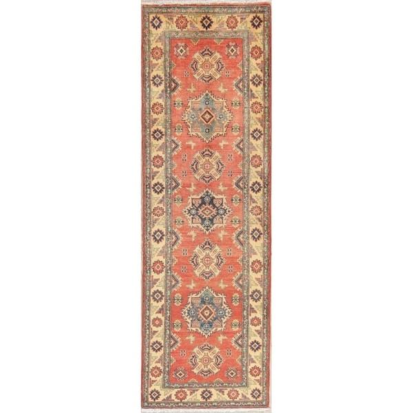 f136060fbc5 Traditional Kazak Oriental Hand Knotted Wool Pakistani Rug - 8'3