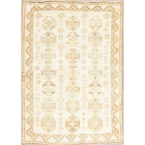 """Muted Distressed Gabbeh Oriental Hand Knotted Wool Persian Area Rug - 6'1"""" x 4'4"""""""