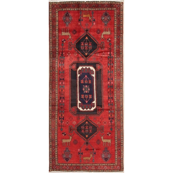 "Bakhtiari Tribal Oriental Hand Knotted Wool Persian Rug - 9'7"" x 4'1"" Runner"