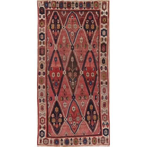 """Antique Moroccan Oriental Hand Knotted Wool Morocco Area Rug - 10'3"""" x 5'0"""""""