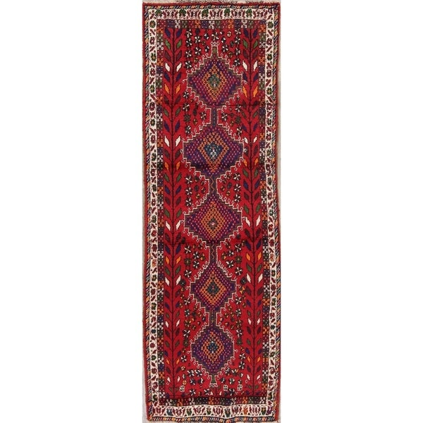 "Lori Oriental Hand Knotted Wool Persian Rug - 9'8"" x 3'1"" Runner"