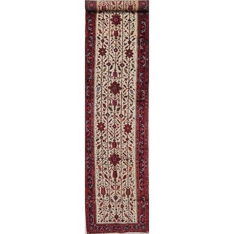 "Heriz (serapi) Oriental Hand Knotted Wool Persian Rug - 14'0"" x 3'2"" Runner"