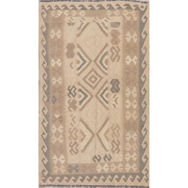 "Modern Kilim Oriental Flatweave Wool Turkish Area Rug - 6'6"" x 3'9"""