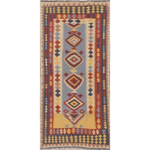 "Modern Kilim Oriental Handmade Wool Turkish Rug - 7'5"" x 3'4"" Runner"
