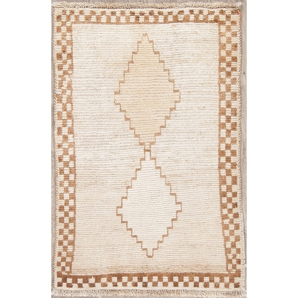 """Vintage Gabbeh Oriental Hand Knotted Wool Persian Area Rug - 4'0"""" x 2'8"""""""