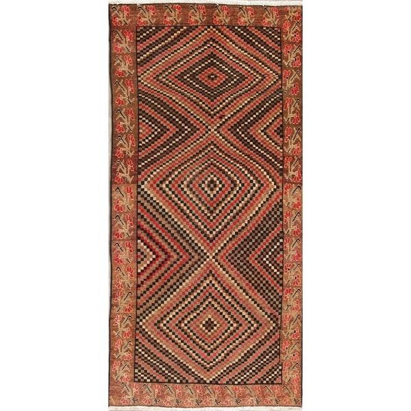 "Vintage Bakhtiari Oriental Hand Knotted Wool Persian Area Rug - 9'3"" x 4'7"""