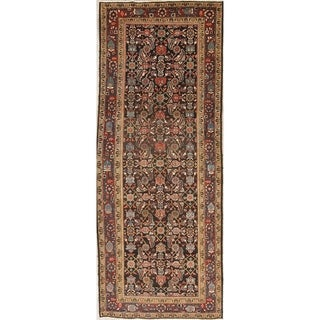 """Vintage Mahal Oriental Hand Knotted Wool Persian Rug - 10'11"""" x 4'4"""" Runner"""
