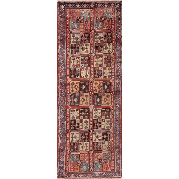 """Vintage Malayer Oriental Hand Knotted Wool Persian Rug - 10'5"""" x 3'8"""" Runner"""