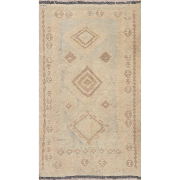 "Modern Kilim Diamond Oriental Handmade Wool Turkish Area Rug - 5'9"" x 3'7"""