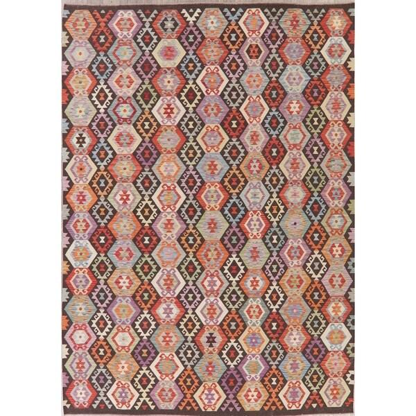 "Modern Kilim Oriental Handmade Wool Turkish Area Rug - 11'7"" x 8'4"""