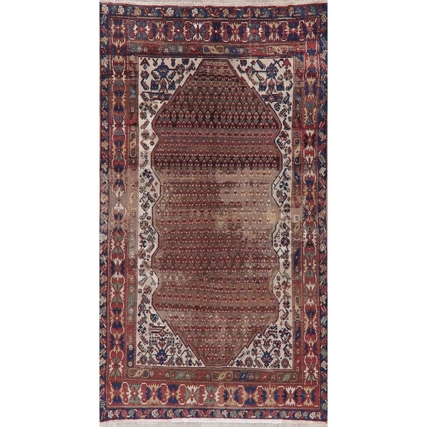 """Antique Malayer Oriental Hand Knotted Wool Persian Area Rug - 9'4"""" x 5'0"""""""