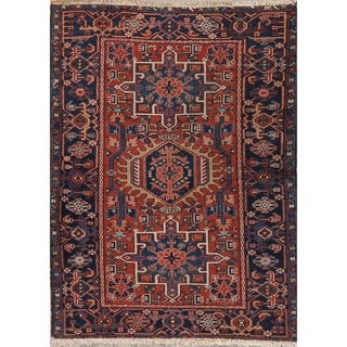 "Antique Gharajeh Tribal Oriental Hand Knotted Wool Persian Area Rug - 4'5"" x 3'5"""