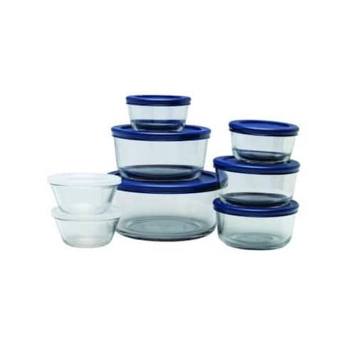 Anchor Hocking 13326AHG18 16 Piece Glass Food Storage Set
