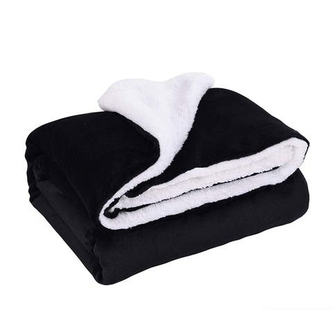 MarCielo Sherpa Throw Fleece Blanket 50 x 60