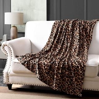 Link to MarCielo Leopard Fleece Throw Blanket 50 x 60 Similar Items in Blankets & Throws