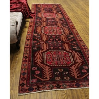 "Noori Rug Vintage Distressed Rick Grey/Peach Runner - 3'6"" x 10'4"""