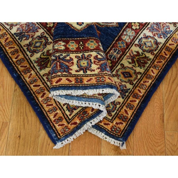 Shahbanu Rugs Navy Blue Super Kazak Xl