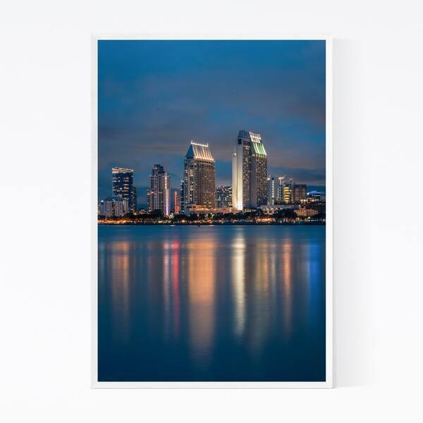 Shop Noir Gallery San Diego Skyline Cityscape Framed Art Print Overstock 28335414