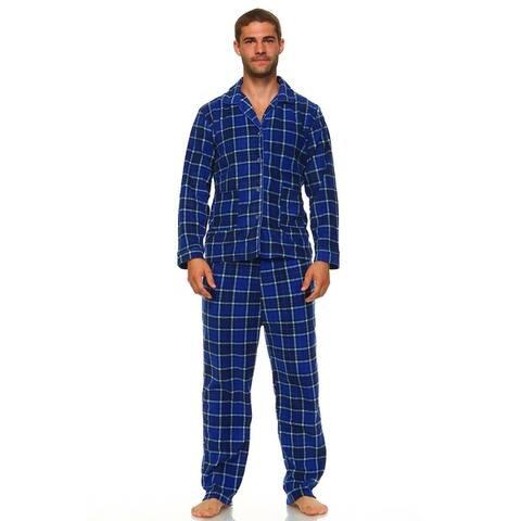 MarCielo Men's Fleece Pajamas Set Sleepwear