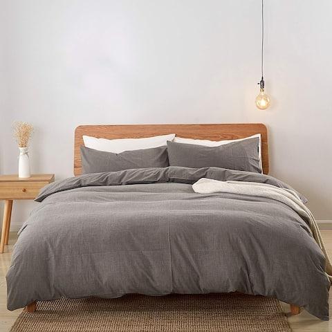 Carson Carrington Gradersta 3-piece Cotton Duvet Cover Set