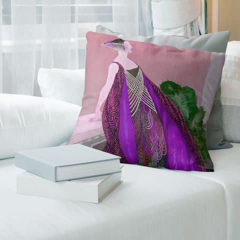 Porch & Den 'art nouveau design Throw Pillow